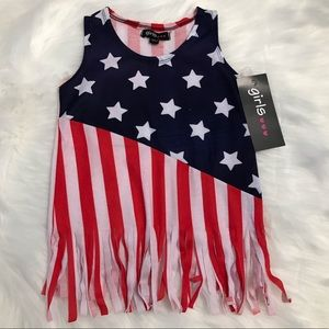 Other - Girls Patriotic tank top